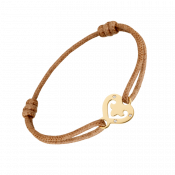 Bracelet Cœur Légendes plumetis sur cordon