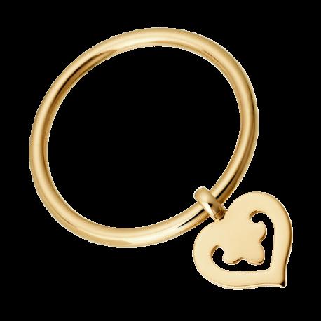Bague Coeur Legend en pendentif en or jaune