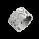 Bague Passionata or blanc, semi pavé 13mm