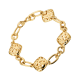Bracelet Sweety or rose 4 motifs sur chaine
