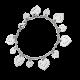 Bracelet Coeur Légendes coeurs en breloques