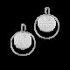 Motifs d'oreilles Créoles Saga petit modèle