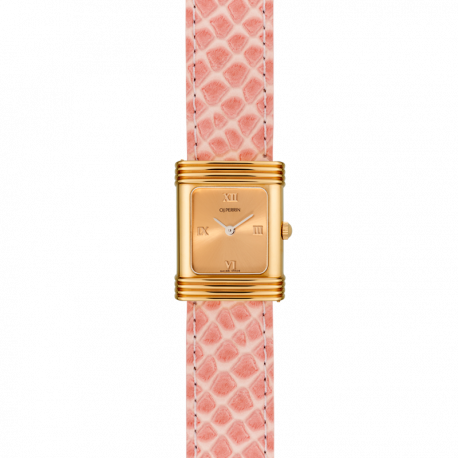 Stell watch, gilded dial, exchangeable bracelet