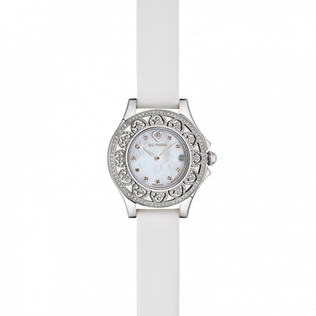 Montre Courtisane, cadran blanc