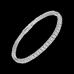 Bracelet ligne diamants taille 2